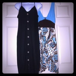 2 Summer Dresses Size Medium Bundle